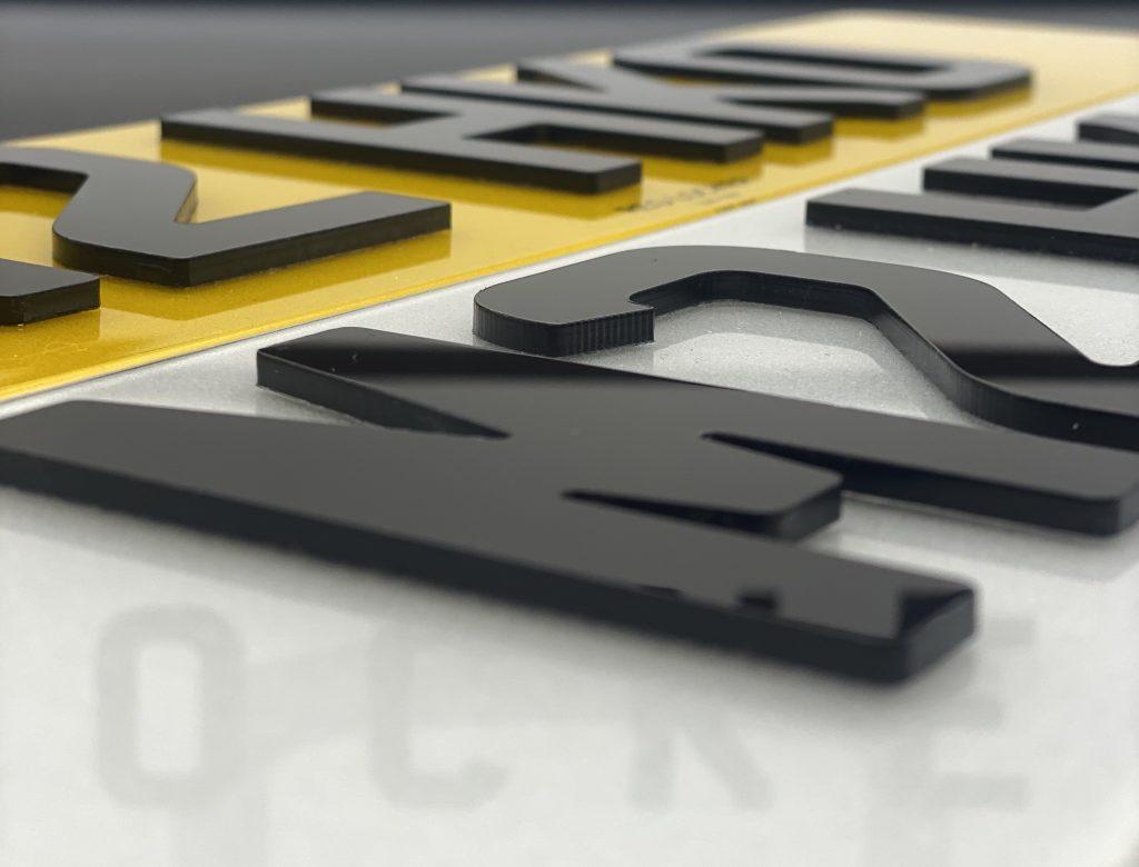 Cheap 3D Gel Number Plates